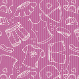 Fashion shopping pink pattern Royalty Free Stock Photos