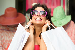 Fashion shopping sales happiness Royalty Free Stock Photography
