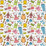 Fashion shopping seamless pattern Stock Images