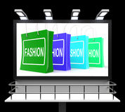 Fashion Shopping Sign Shows Fashionable Trendy And Stylish Royalty Free Stock Photos