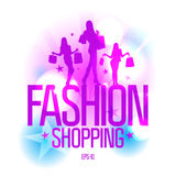Fashion shopping template Stock Images