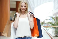 Fashion shopping woman Royalty Free Stock Photography