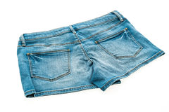 Fashion short jean pants for women Royalty Free Stock Photography