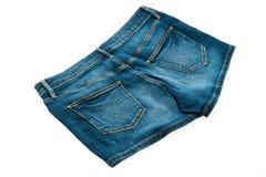 Fashion short jean pants for women Stock Image