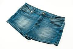 Fashion short jean pants for women Stock Photos