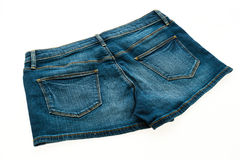 Fashion short jean pants for women Stock Photography