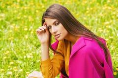 Girl posing outdoor stock photo