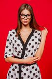 Fashionable attractive girl royalty free stock photos