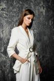 Woman in elegant suit royalty free stock photos