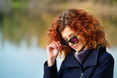 Fashion shot outdoor Stock Images