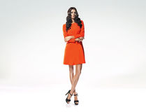 Fashion shot of tall, slim model Stock Images