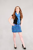 Fashion shot of teen girl Stock Photos