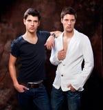 Fashion Shot of a trendy European mans royalty free stock photos