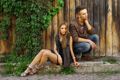 Fashion shot of a trendy young people Royalty Free Stock Images