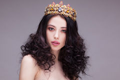 Fashion shot of a woman with diadem Stock Photography