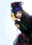 Fashion shot of woman in doll style Stock Photos