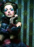Fashion shot of woman in doll style. Stock Image