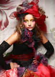 Fashion shot of woman in doll style Royalty Free Stock Photos