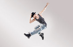 Fashion shot of a young hip hop dancer Stock Image