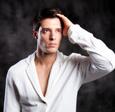 Fashion Shot of a Young Man Stock Photography