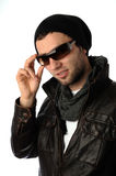 Fashion shot of a young man Royalty Free Stock Photography