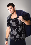 Fashion Shot of a young man Royalty Free Stock Photos