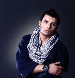 Fashion Shot of a young man in coat Royalty Free Stock Image