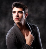 Fashion Shot of a Young Man A trendy European man royalty free stock photo