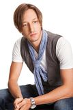 Fashion Shot of a Young trendy man Royalty Free Stock Photo