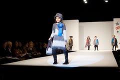 Fashion Show. VALENCIA, SPAIN - JANUARY 22: Valencia Children's Fashion Show with the designer Floc Baby on January 22, 2010 in Valencia, Spain royalty free stock photos