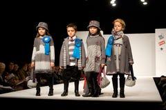 Fashion Show. VALENCIA, SPAIN - JANUARY 22: Valencia Children's Fashion Show with the designer Floc Baby on January 22, 2010 in Valencia, Spain stock image