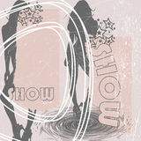 Fashion show 2. Jpeg and vector retro and grunge picture, fashion show Royalty Free Stock Photos