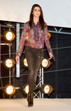 Fashion show in Barcelona. BARCELONA - JANUARY 27: Woman do a parade of Phard brand collection at The Brandery, international trade show of urban and royalty free stock photo