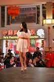 Fashion show on Chinese New Year event Royalty Free Stock Photography