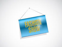 Fashion show hanging banner illustration Stock Image