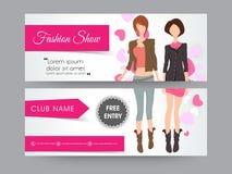 Fashion show header design. Stock Photos