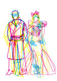 Fashion show illustration Royalty Free Stock Images