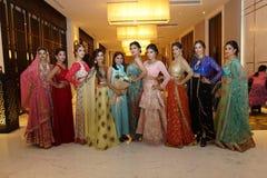 Fashion Show of Jeewan Kaur India Wedding Style royalty free stock photo