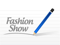 Fashion show message sign illustration design Stock Photo