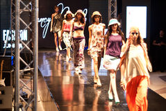 Fashion Show For Nancy Naguib All Model (On Runway) Royalty Free Stock Images