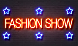 Fashion show neon sign Stock Image