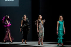 The fashion show Pierre Cardin in Moscow Fashion Week With Love for Russia Fall-Winter 2016/2017 Royalty Free Stock Photography