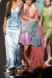 Fashion show runway beautiful colourful dresses stock photography