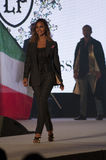 Fashion show sarah nile dress Costume and the Italian flag Royalty Free Stock Photos