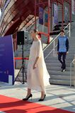 A fashion show at the Vanke pavilion of the EXPO Milano 2015. Stock Image