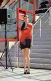 A fashion show at the Vanke pavilion of the EXPO Milano 2015. Royalty Free Stock Photo
