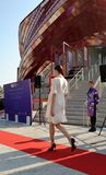 A fashion show at the Vanke pavilion of the EXPO Milano 2015. Royalty Free Stock Image