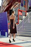 A fashion show at the Vanke pavilion of the EXPO Milano 2015. Stock Photography