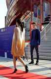 A fashion show at the Vanke pavilion of the EXPO Milano 2015. Stock Photo