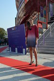 A fashion show at the Vanke pavilion of the EXPO Milano 2015. Stock Images